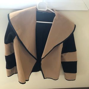 Black and Tan contrast jacket